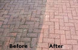 paving before after cleaning